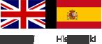 Flaga Wielkiej Brytanii i Hiszpanii